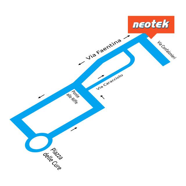Neotek Firenze: come arrivare in via Federico Confalonieri 1,3,5